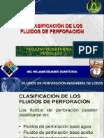 2. CLASIFICACION DE  FLUIDOS DE PERFORACIÓN