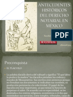 ANTECEDENTES HISTORICOS  DEL DERECHO NOTARIAL EN MÉXICO