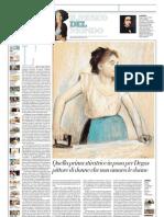 IL MUSEO DEL MONDO 21 - La Stiratrice Di Edgar Degas (1869-72 Circa) - La Repubblica 19.05.2013