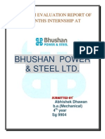 Overview of Bhushan power and steel