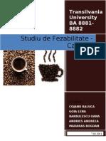 Studiu de Fezabilitate Cafenea