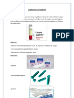 Micro Hematocrit o