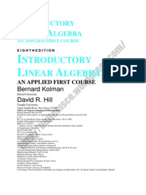Linear Algebra Complete Book   System Of Linear Equations