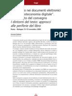 Giovanni Solimine, Il Paratesto Etc. (Digitalia n. 1, 2006)