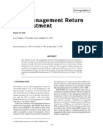 Risk Management Return on Investment
