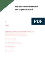 Inregistrarea Datoriilor Si Creantelor Fata de Bugetul Statului