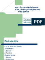 6. Treatment of Acute and Chronic Periodontitis
