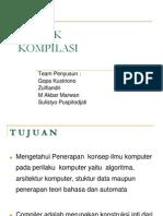 Materi Kuliah Teknik Kompilasi