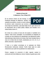 19/05/2013 Boletín de Prensa