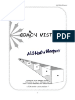 Add Math Comman Mistakes - TEACHER