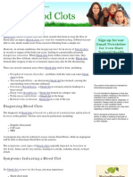 Healthy Remedies for Blood Clots