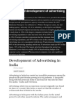 Growth and Development of Advertising in India