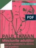 Minciunile Adultilor Paul Ekman