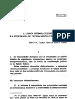A Lógica Integracionista e a Supremacia do Ordenamento COmunitário - Paulo de Pitta e Cunha
