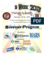 VetMed Week Souvenir Program February 18-22, 2013