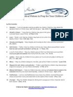 31 Virtues Pray Children