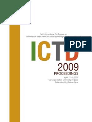 ICTD 2009 Proceedings   Governance   Democracy