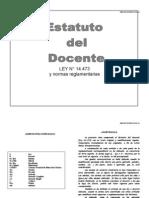 Ley 14473 Estatuto del Docente