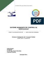 Sisteme Avansate de Control Al Vehiculului