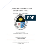 Curriculo Universitario