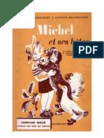 Langue Française Lecture Courante CE1-CE2 Michel et ses bêtes R et S Brandicourt 1955