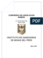 Compendio de Legislacion Minera