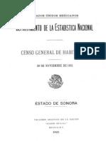 Censo Sonora 1921
