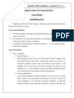 Introduction to Linguistics Chapter 8 Morphology