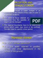 Interception and Depression Storage 2011