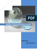 Water distribution system design