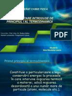 Functii de Stare Introduse de Principiul i Al Termodinamicii