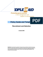 Pia Recruitment Selection Policy Guide and Template
