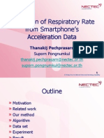 Estimation of Respiratory Rate from Smartphone's Acceleration Data
