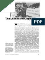 Lessons of Libya