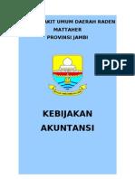 Kebijakan Akuntansi Rumah Sakit Umum Daerah Raden Mattaher