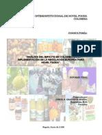 ANÁLISIS IMPACTO EN COLOMBIA  REGULACIÓN EUROPEA  NOVEL FOODS