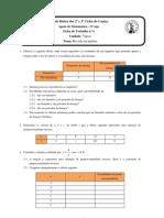 Ficha de Trabalho nº4 - 9º ano