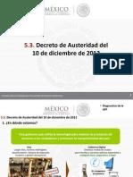 5 Decreto de Austeridad Del 10 de Diciembre de 20121