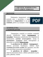 07 - Nevoia de a Mentine Temperatura