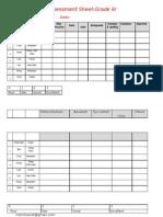 Assesment Sheet Grade6r