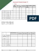 Assesment Sheet Grade7f