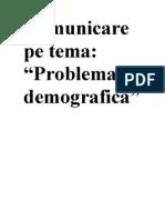 Problema Demografica