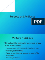 CXC English Purpose and Audience