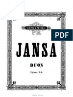 Jansa L. 6 Duos for 2 Violins Op.74