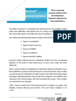 The Feldenkrais Method Improves Balance. Summary 2