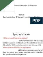 Ch 4 Synchronization Models of Memory Consistency