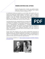 BREVE RESEÑA HISTORICA DEL AUTISMO