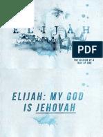 Elijah Notes - Week 1