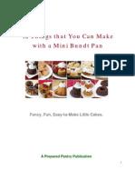 Mini Bundt Cake Guide