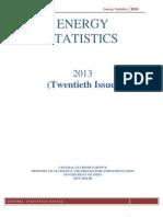 Energy Statistics 2013